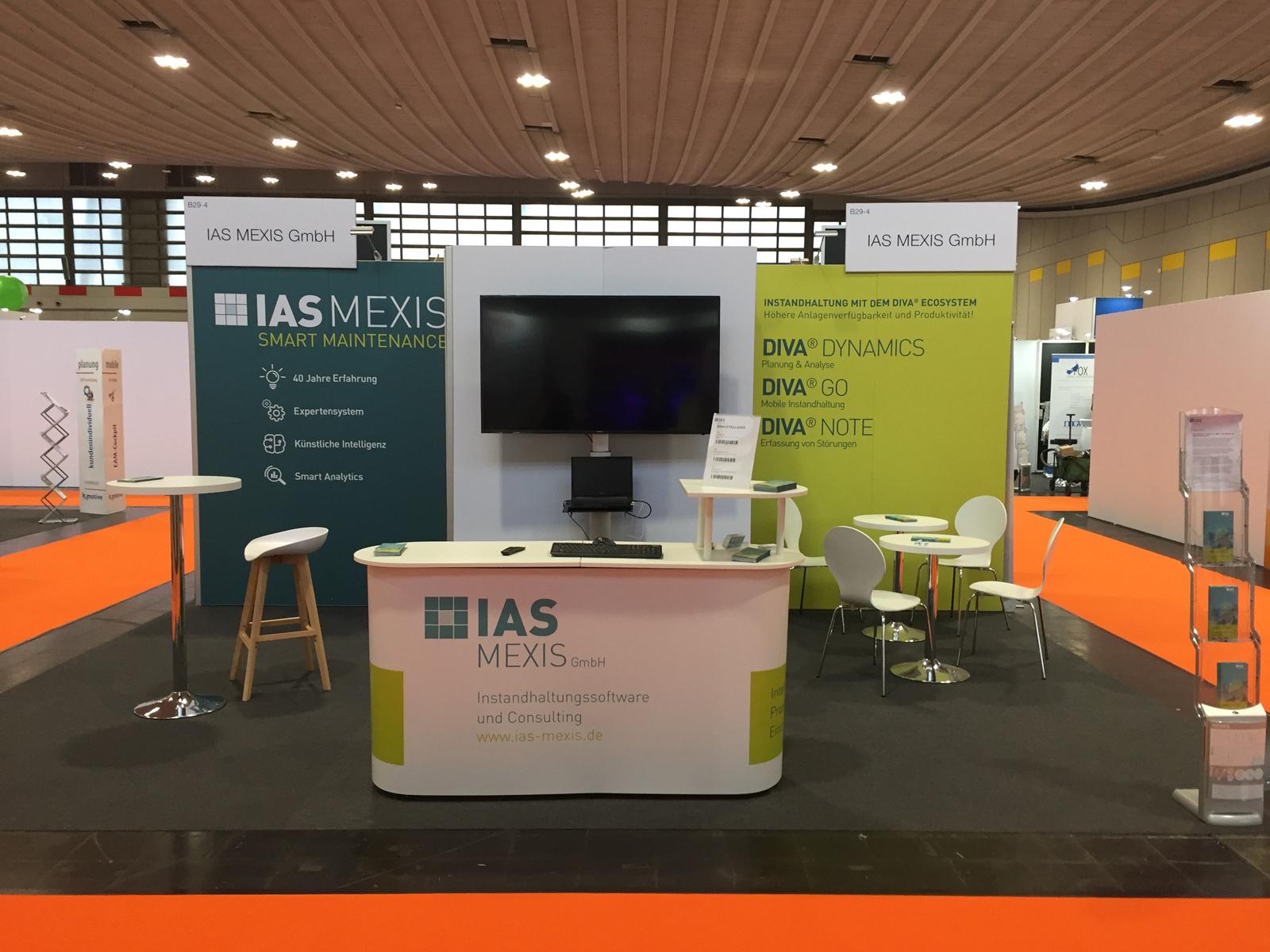 Messestand IAS MEXIS auf der Leitmesse für industrielle Instandhaltung: Maintenance 2020