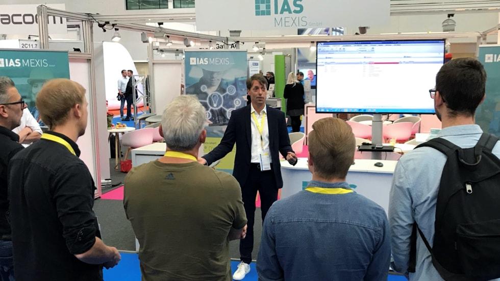 Messestand IAS Mexis. Falk Pagel stellt die Instandhaltungssoftware DIVA Dynamics auf der Fachmesse für Instandhaltung und Services 2019 vor
