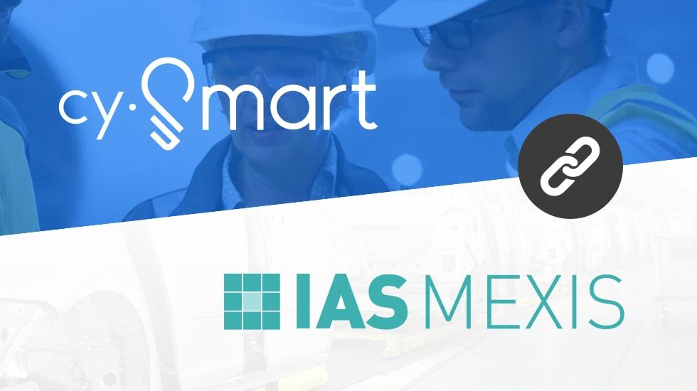 cySmart und IAS Mexis Logos in einer Collage