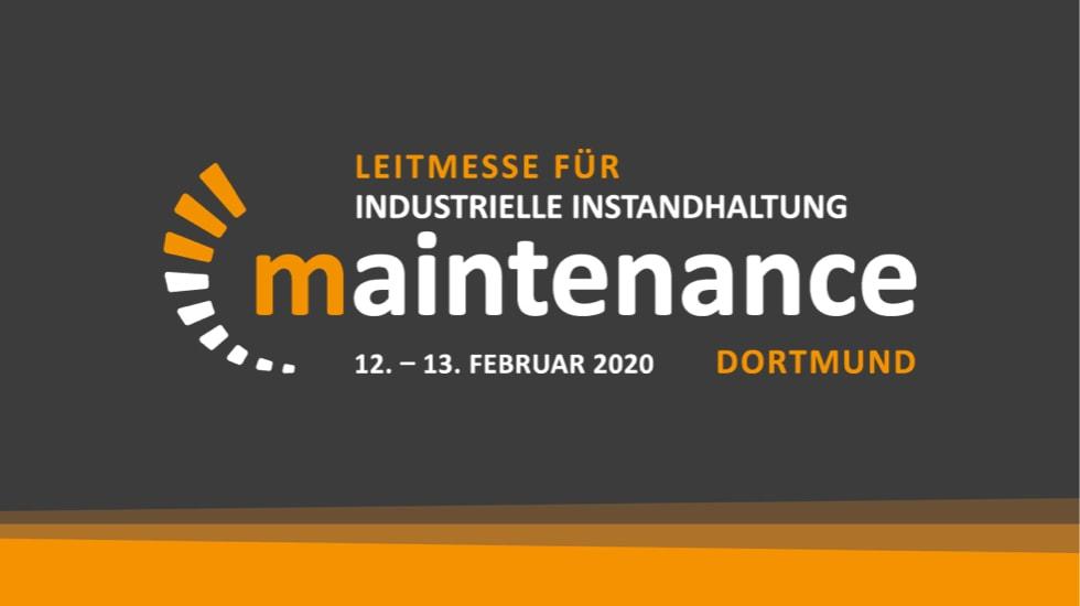 Leitmesse für industrielle Instandhaltung: Maintenance 12. - 13. Februar 2020 in Dortmund